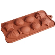 shell shape silicone chocolate mold supplier
